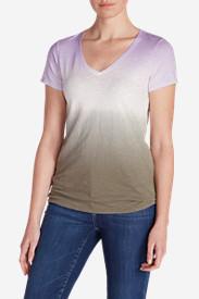 Women's Gypsum Dip Dye T-Shirt in Green