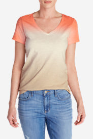 Women's Gypsum Dip Dye T-Shirt in Beige