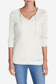 Women's Beachside Tunic Sweater in White