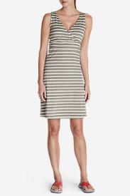 Women's Aster Lily Wrap Dress - Stripe in Beige