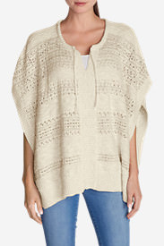 Women's Madrona Poncho Sweater in White