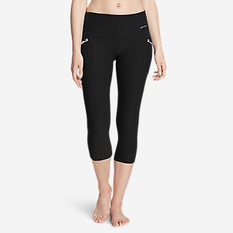 Women's Trail Tight Capris in Black