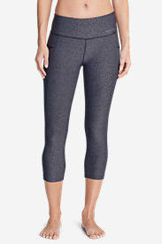 Women's Trail Tight Capris in Blue