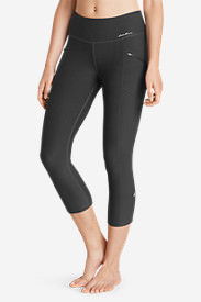 Women's Trail Tight Capris in Gray