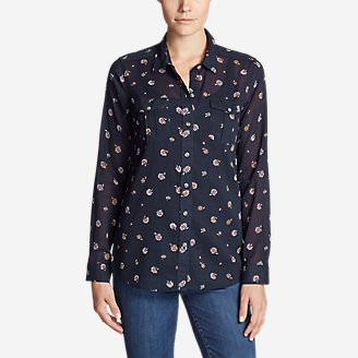 Women's Packable Shirt - Print in Blue