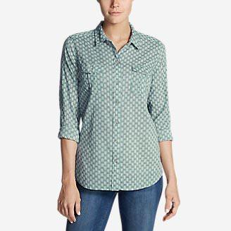 Women's Packable Shirt - Print in Blue
