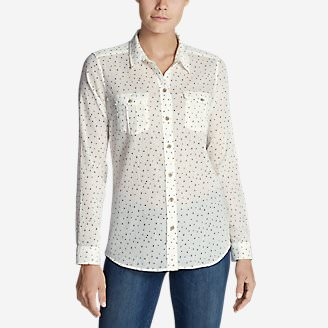 Women's Packable Shirt - Print in White