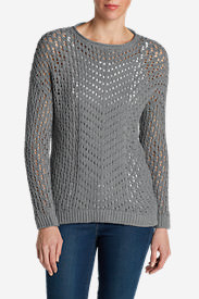 Women's Peakaboo Pullover Sweater in Gray