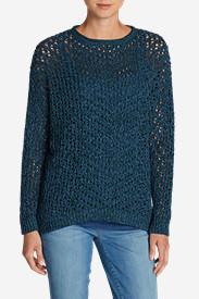 Women's Peakaboo Pullover Sweater in Green