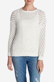 Women's Peakaboo Pullover Sweater in White