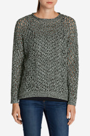 Women's Peakaboo Pullover Sweater in Gray