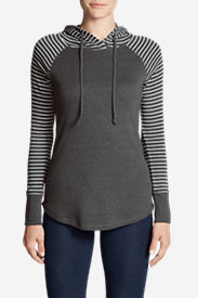 Women's Favorite Pullover Hoodie - Stripe in Gray