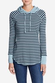 Women's Favorite Pullover Hoodie - Stripe in Blue