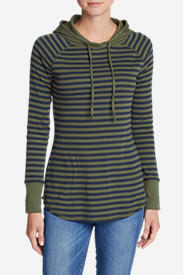 Women's Favorite Pullover Hoodie - Stripe in Green