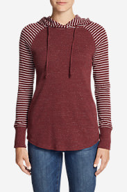 Women's Favorite Pullover Hoodie - Stripe in Orange