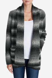 Women's White Out Cardigan Sweater in Gray