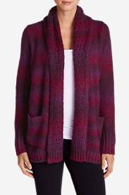 Women's White Out Cardigan Sweater in Red