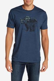 Men's Graphic T-Shirt - Bear Mountain in Blue