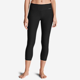 Women's Movement Mesh Block Capris in Black