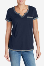 Women's Daybreak Embroidered Short-Sleeve T-Shirt in Blue