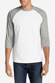 Men's Legend Wash 3/4-Sleeve Baseball T-Shirt in White