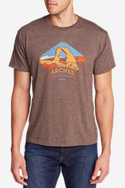 Men's Graphic T-Shirt - Arches in Brown