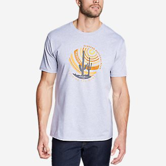 Men's Graphic T-Shirt - Saguaro in Gray