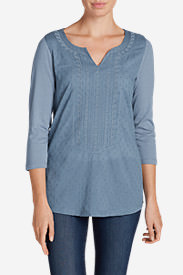 Women's Arya Creek Tunic Shirt in Blue