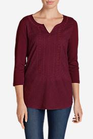 Women's Arya Creek Tunic Shirt in Red