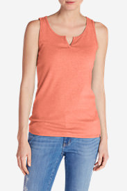 Women's Favorite Notched-Neck Tank Top in Orange