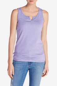 Women's Favorite Notched-Neck Tank Top in Purple