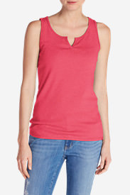 Women's Favorite Notched-Neck Tank Top in Pink
