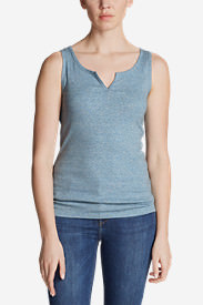 Women's Favorite Notched-Neck Tank Top in Blue