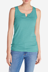 Women's Favorite Notched-Neck Tank Top in Green