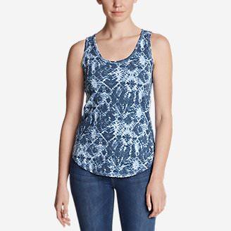 Women's Ravenna Tank Top - Print in Blue