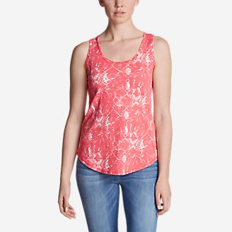 Women's Ravenna Tank Top - Print in Red