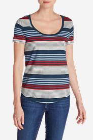 Women's Gypsum Striped T-Shirt in White