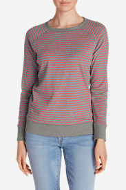 Women's Legend Wash Crewneck Sweatshirt - Stripe in Red