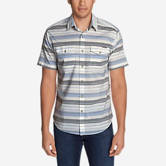 Men's Vashon Short-Sleeve Shirt - Stripe in Gray