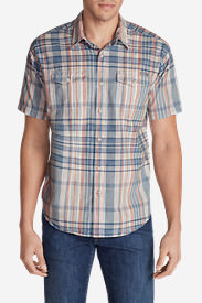 Men's Vashon Short-Sleeve Shirt - Stripe in Red