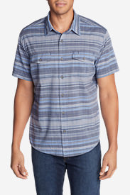 Men's Vashon Short-Sleeve Shirt - Stripe in Blue
