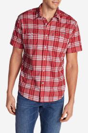 Men's Vashon Short-Sleeve Shirt - Stripe in Red