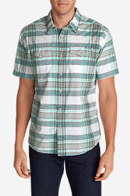 Men's Vashon Short-Sleeve Shirt - Stripe in Green