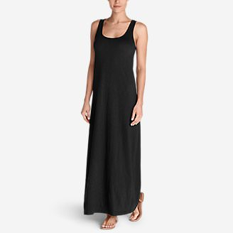Women's Americana Maxi Dress in Black