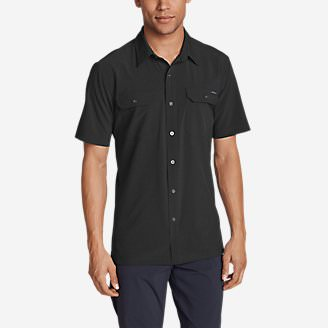 Men's Departure Short-Sleeve Shirt in Black