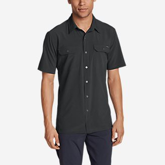 Men's Departure Short-Sleeve Shirt in Gray