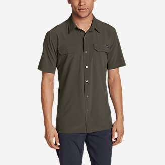 Men's Departure Short-Sleeve Shirt in Green