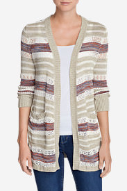 Women's Fiona Boyfriend Cardigan Sweater in Beige