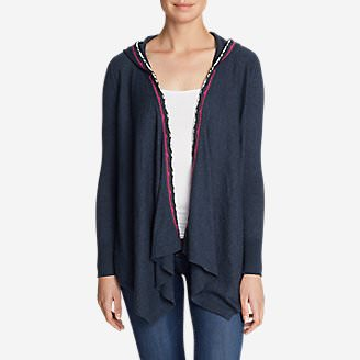 Women's Christine Hoodie Cardigan Sweater in Blue