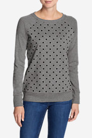 Women's Legend Wash Crewneck Sweatshirt - Polka Dot in Gray